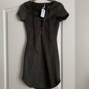 Windsor suede lace up dress